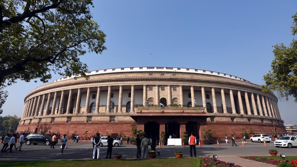 The Lok Sabha was adjourned abruptly on Wednesday amid protests by the Telugu Desam Party (TDP) over special category status for Andhra Pradesh, among other demands. It was the third day in a row when the proceedings of the House were disrupted due to protests. The budget session had reconvened after a month long recess on March 5. (Sonu Mehta / HT Photo)