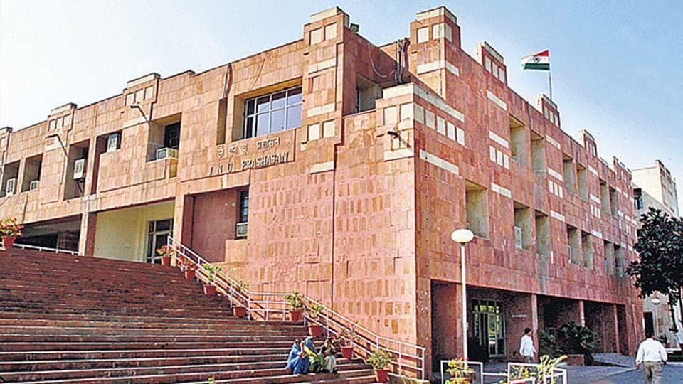 A file photo of JNU administrative building in New Delhi.