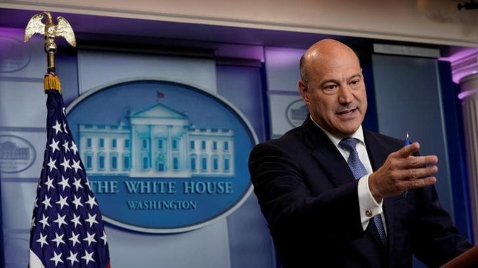 White House chief economic adviser Gary Cohn speaks during a press briefing at the White House in Washington, US.
