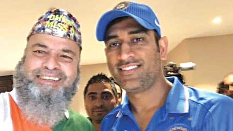 """Indian cricket team fan Mohammad Bashir, a.k.a Chacha Chicago -- a Pakistan born Chicago based follower of the game, loves his idol MSDhoni """"more than his wife""""."""