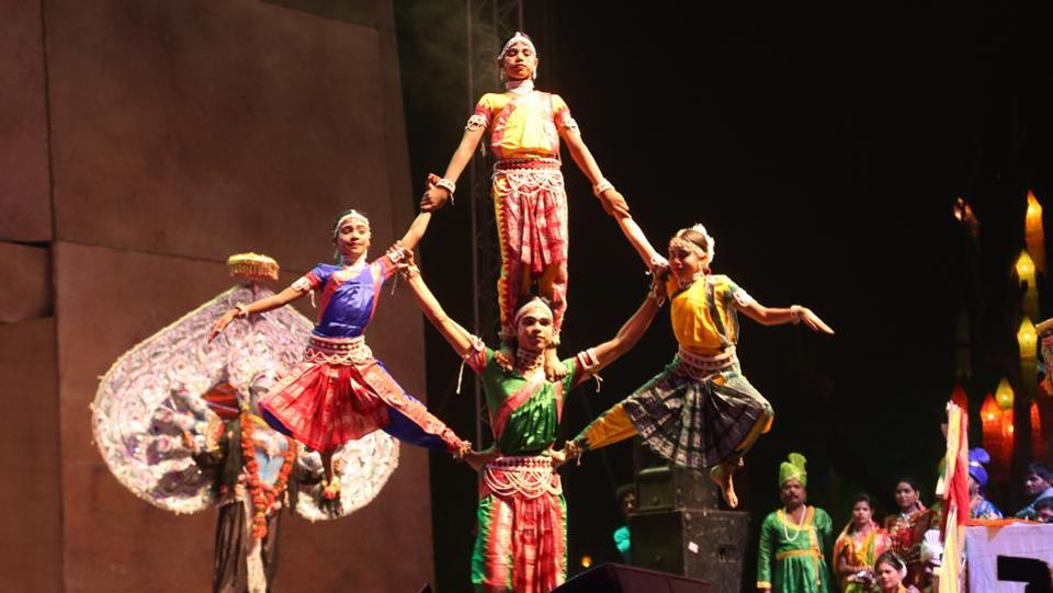 Cultural performances take place during the event.