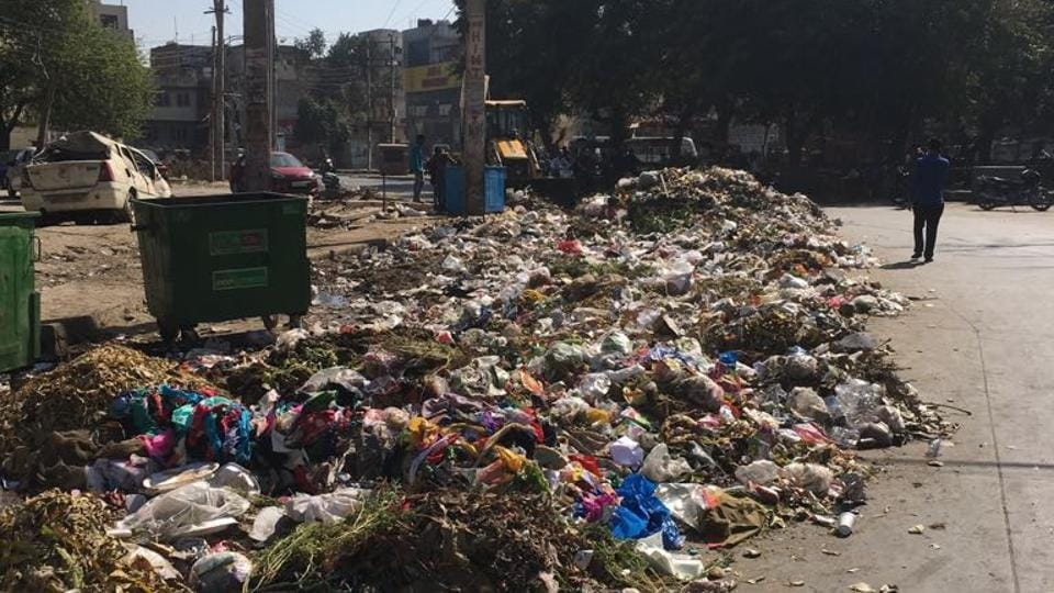 New Colony,Garbage Dump in Park,Gurgaon