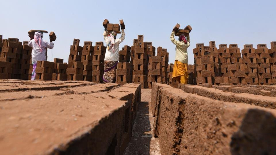 As the brick industry is one of the unorganised industries in India, women workers do not get the status which the men enjoy. (Pratham Gokhale/HT Photo)