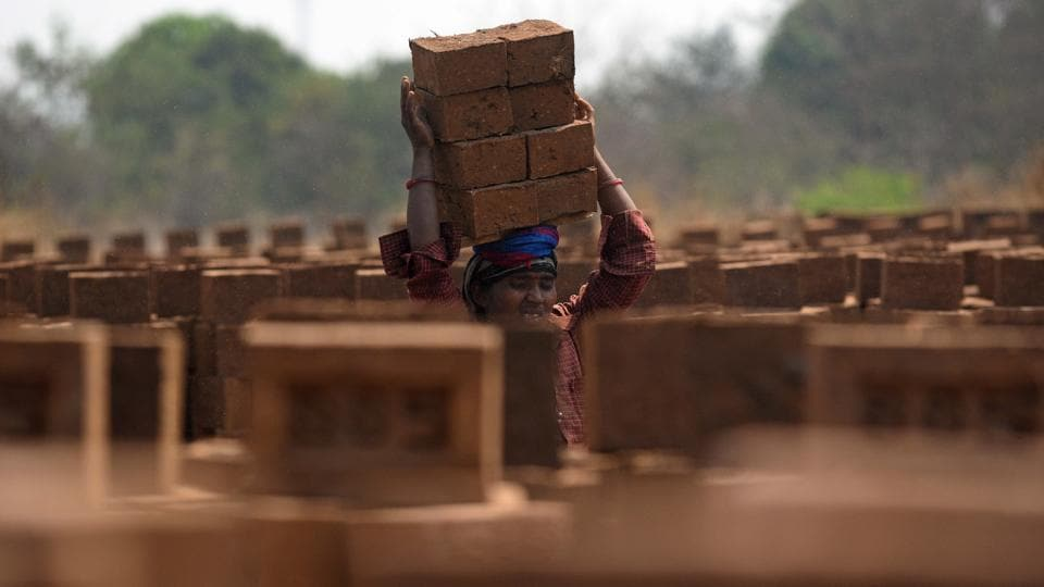 According to the Centre for Science and Environment (CSE), at least 10 million people work in kilns even as there are no official figures for the number of people employed to cut, shape and bake clay-fired bricks, mostly by hand, in tens of thousands of brick kilns in India. (Pratham Gokhale/HT Photo)