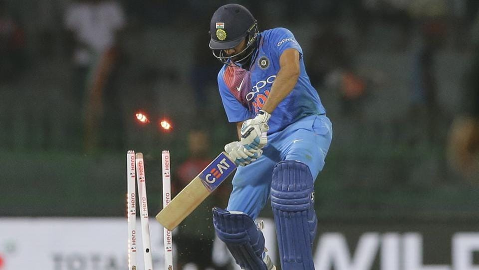 In reply, Rohit Sharma -- leading India in the absence of the regular skipper Virat Kohli -- fell for 17 and Rishabh Pant was also dismissed cheaply. (AP)