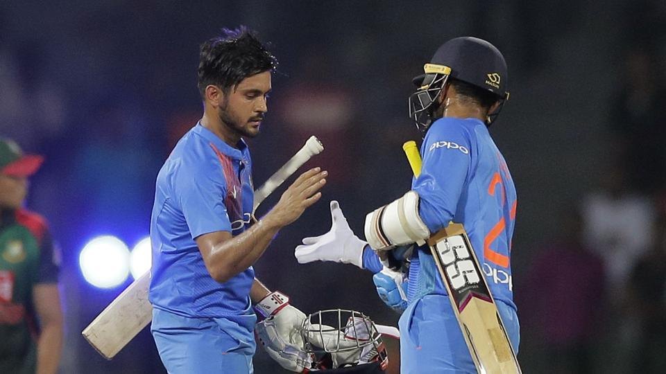 Manish Pandey scored 27 from 19 balls to steer India home with eight balls to spare.  (AP)