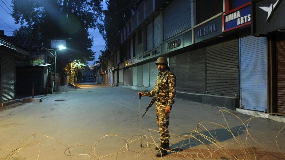 The shutdown was called by separatist groups to protest killings of civilians in Shopian of South Kashmir on Sunday.