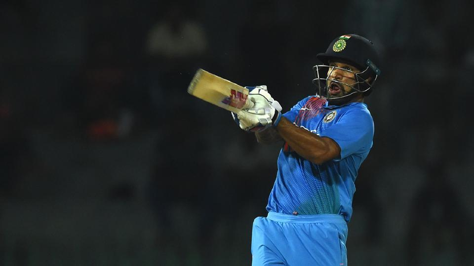 Dhawan, who scored 90 against Sri Lanka, combined with Suresh Raina in a third-wicket stand of 68 to put India on course for victory. (AFP)