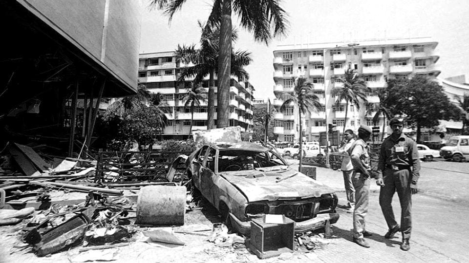 Twelve bombs went off in Mumbai on March 12, 1993, killing 257 people and injuring 713. 25 years after the  serial blasts, the CBI has arrested key conspirator Yasin Mansoor Mohammed Farooq, alias Farooq Takla, believed to be a close aid of underworld don Dawood Ibrahim. The 57-year-old Farooq was arrested in Dubai and deported to India on Thursday morning, a CBI spokesperson said. (Sanjay Sharma / HT Archive)