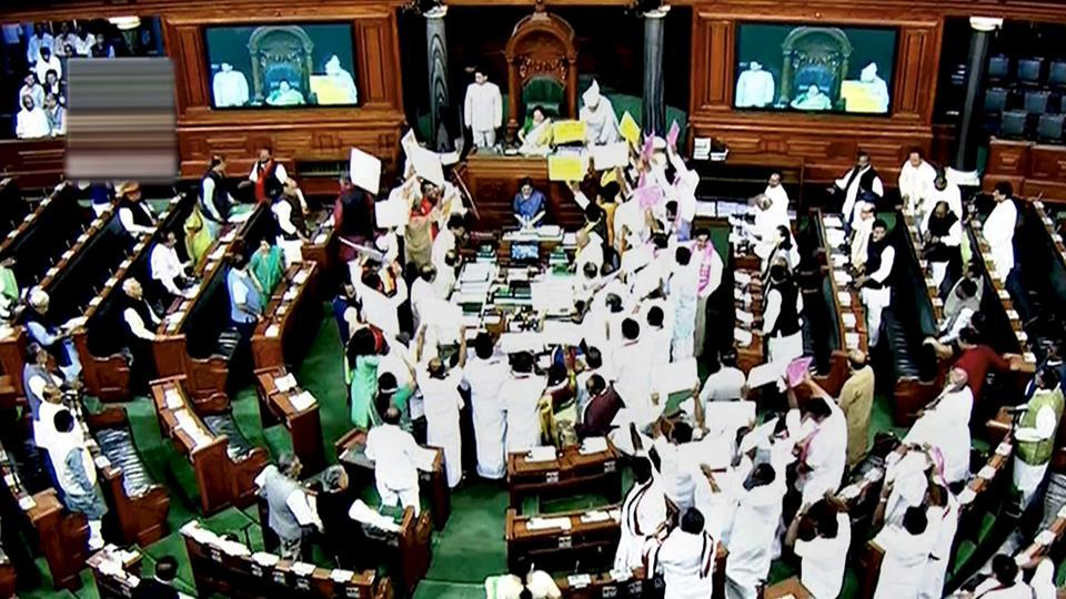 Rajya Sabha washed out for week as Opposition, NDA allies continue protest