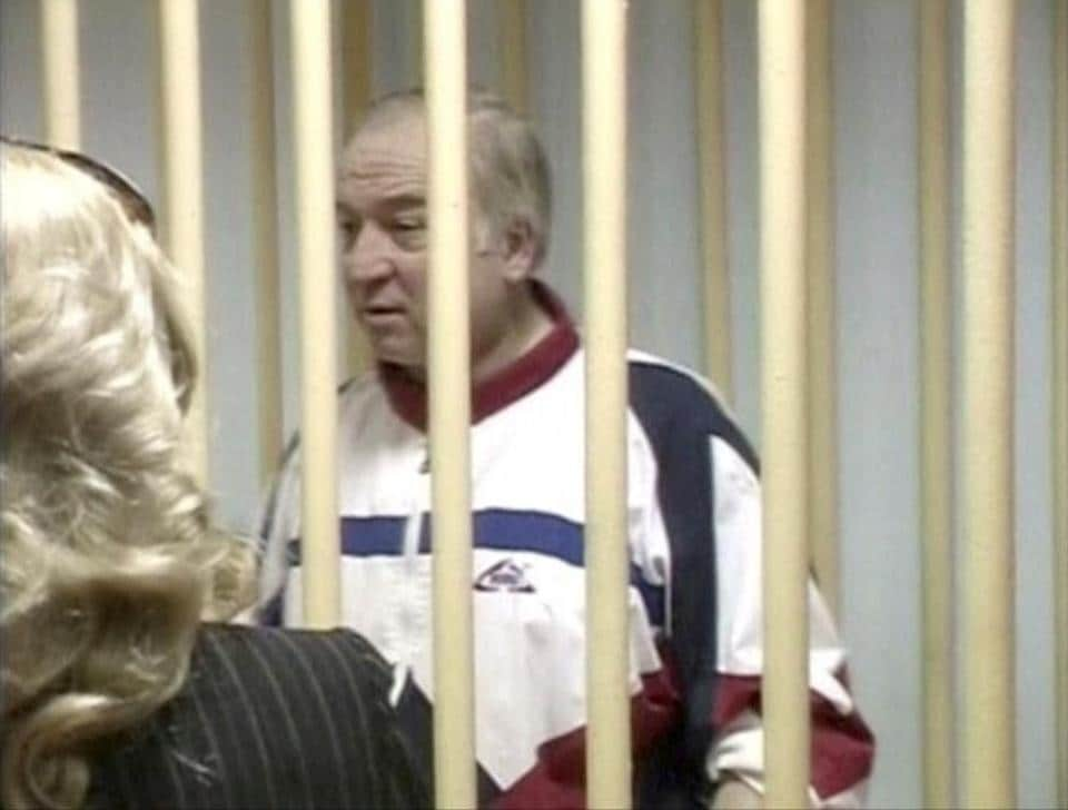 A still image taken from video shows Sergei Skripal, a former colonel of Russia's GRU military intelligence service, attending a hearing at the Moscow military district court, Russia, on August 9 2006.