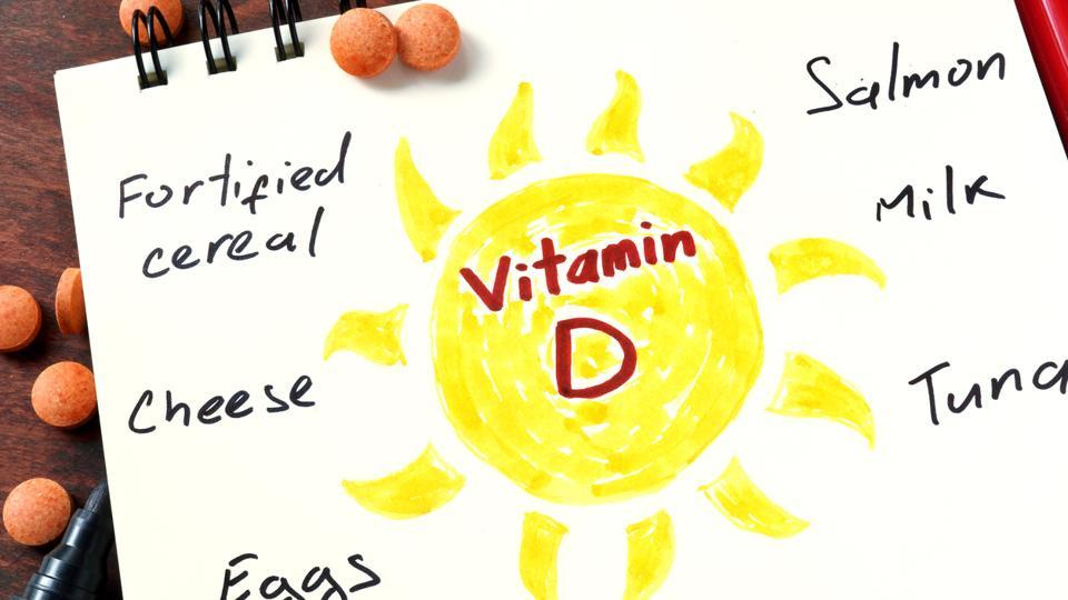Vitamin D is made by the skin in response to sunlight.
