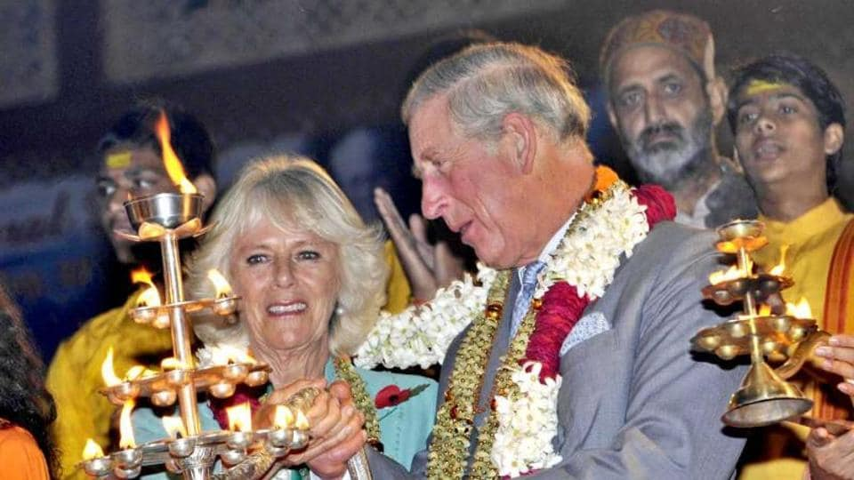Prince Charles and his wife Camilla Parker Bowles at Rishikesh during their  visit to India in 2017.  Prince Charles has appointed Indian-origin steel tycoon Sanjeev Gupta as UK skills ambassador .