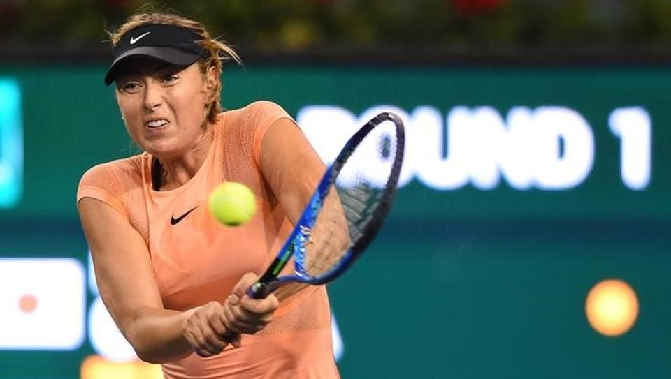 Maria Sharapova lost her first round match against Naomi Osaka of Japan at the BNP Paribas Open at the Indian Wells Tennis Garden.