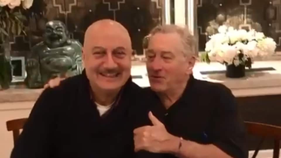 Robert De Niro and Anupam Kher worked with each other in 2012's Silver Linings Playbook.