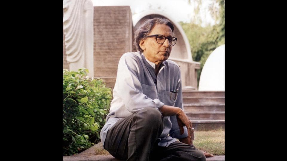 "Balkrishna Vithaldas Doshi, 90, on Wednesday became the first Indian to win the Pritzker Prize, considered architecture's 'Nobel' equivalent. An architect, urban planner and educator, Doshi's work over 70 years has shaped the discourse of architecture in post-Independence India. ""This award implies that the direction I have taken in my career is the right one. That direction involves looking at architecture as a living organism and having dialogue with it,"" Doshi said. (Vastu Shilpa Foundation / AP)"