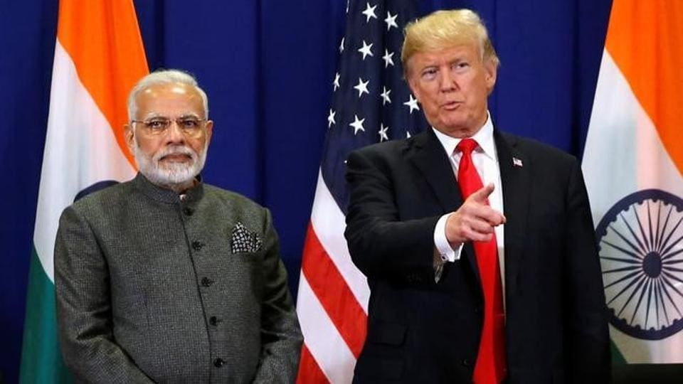 US President Donald Trump with Prime Minister Narendra Modi in Manila, Philippines.