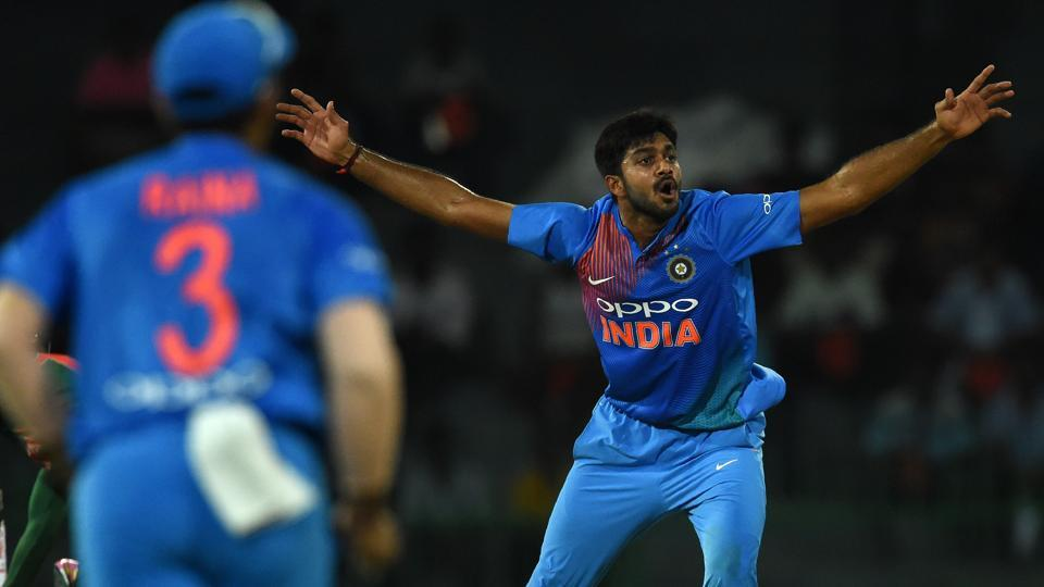 Vijay Shankar picked up two wickets in the second game of the series. (HT Media)