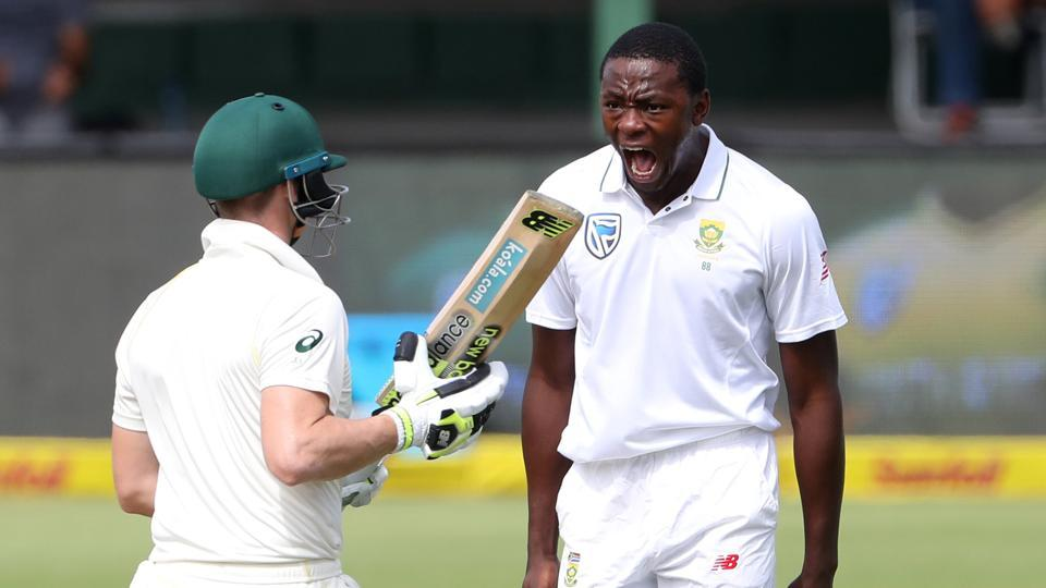 South Africa's Kagiso Rabada (R) was the star performer with five wickets on Day 1 of the second Test against Australia at St George's Park in Port Elizabeth, on Friday. Get full cricket score of the South Africa vs Australia 2nd Test,Day 1, at St George's Park in Port Elizabeth, here.