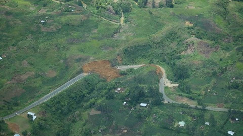 File photo of damage caused by an earthquake in Papua New Guinea, released on March 7, 2018.