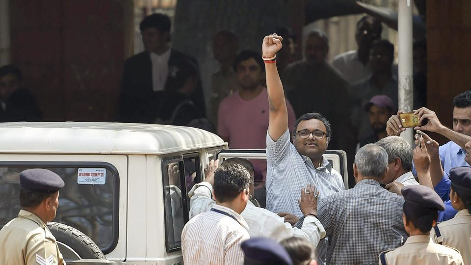 The Delhi high court on Friday asked the Enforcement Directorate (ED) not to arrest Karti Chidambaram, accused in the INX Media money laundering case, till March 20. A high court bench of Justices S Muralidhar and I S Mehta, however, directed the businessman to cooperate in the investigation, appear before the ED when required and submit his passport. (Ravi Choudhary / PTI)