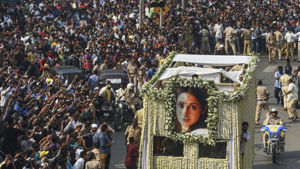 Millions paid their last respect to Sridevi.