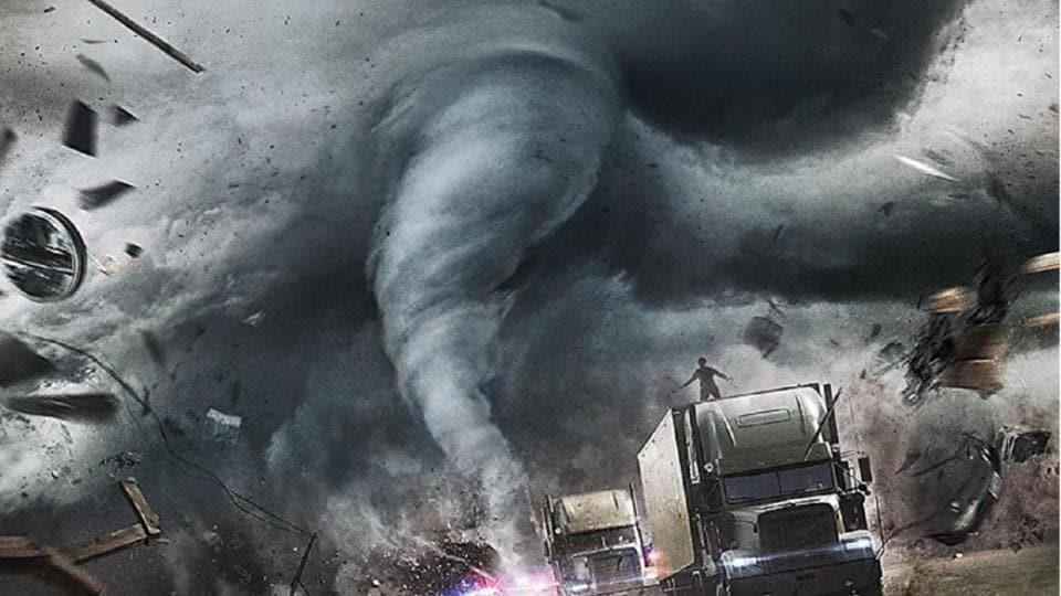 The climactic chase occurs across the eye of a hurricane. Yes, it's that kind of disaster movie.