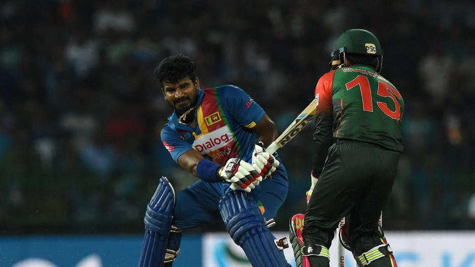 Kusal Perera, who scored a fifty against India, continued to play his attacking game.  (AFP)