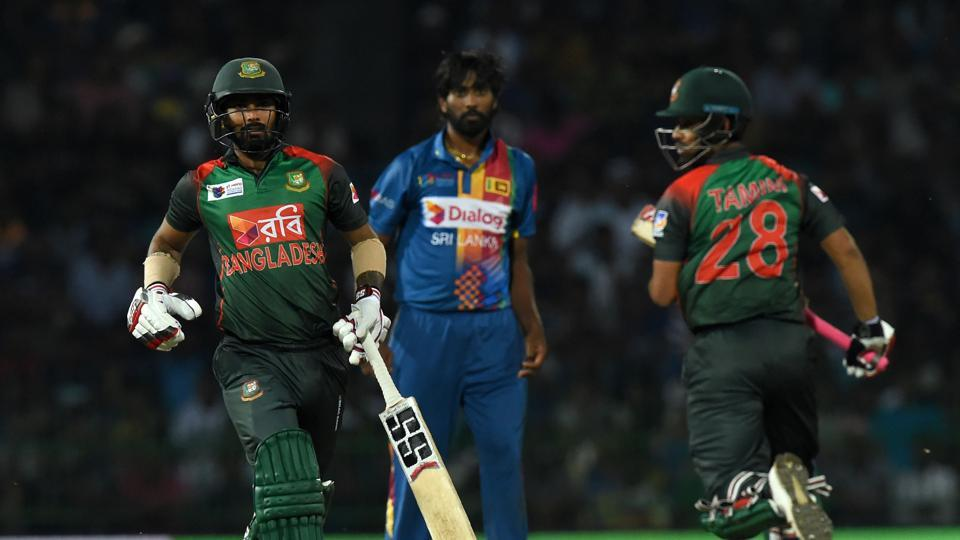A strong start was crucial to Bangladesh's hopes and they got the same from Tamim Iqbal and Liton Das, who added 74 runs for the opening partnership inside six overs. (AFP)