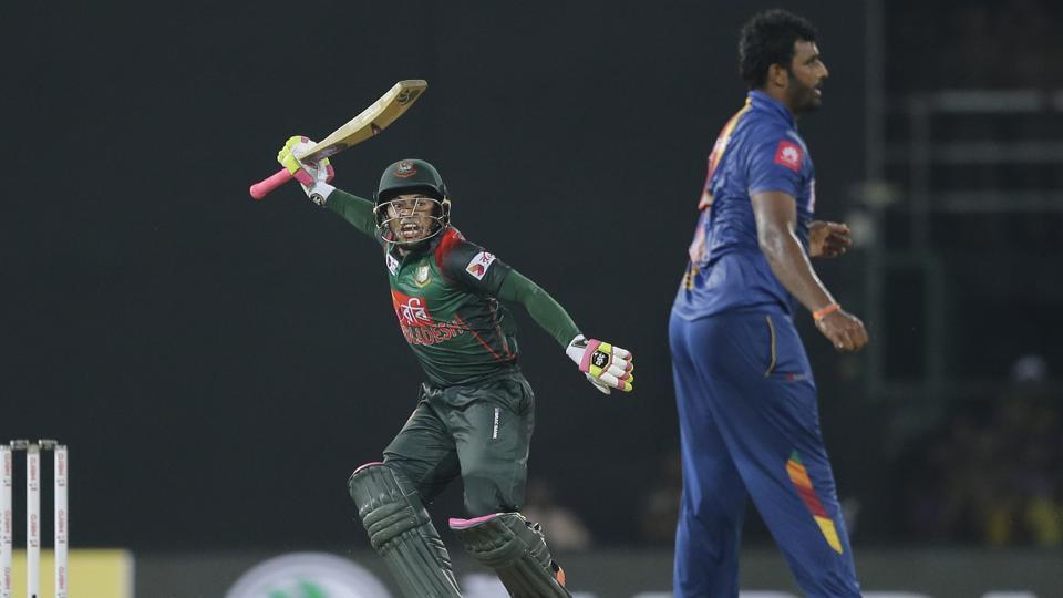 Mushfiqur Rahim's unbeaten 72 helped Bangladesh defeat Sri Lanka by five wickets in the third game of the Nidahas Trophy in Colombo. (AP)