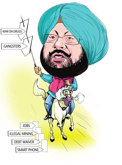Punjab chief minister,Captain Amarinder Singh,Punjab's one year rule