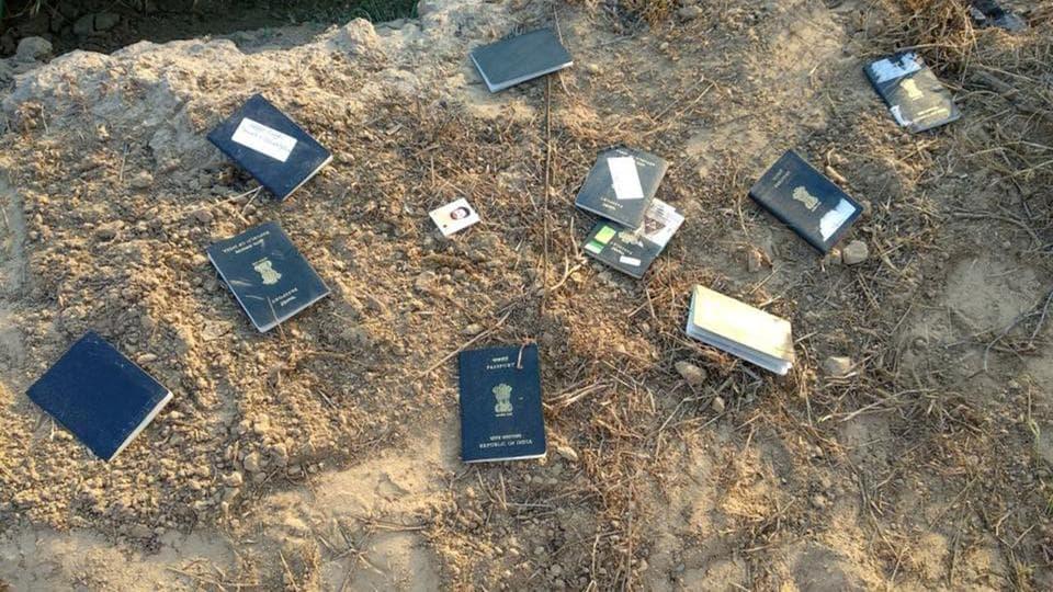 258 Punjab-bound passports,Passports found abandoned,crime