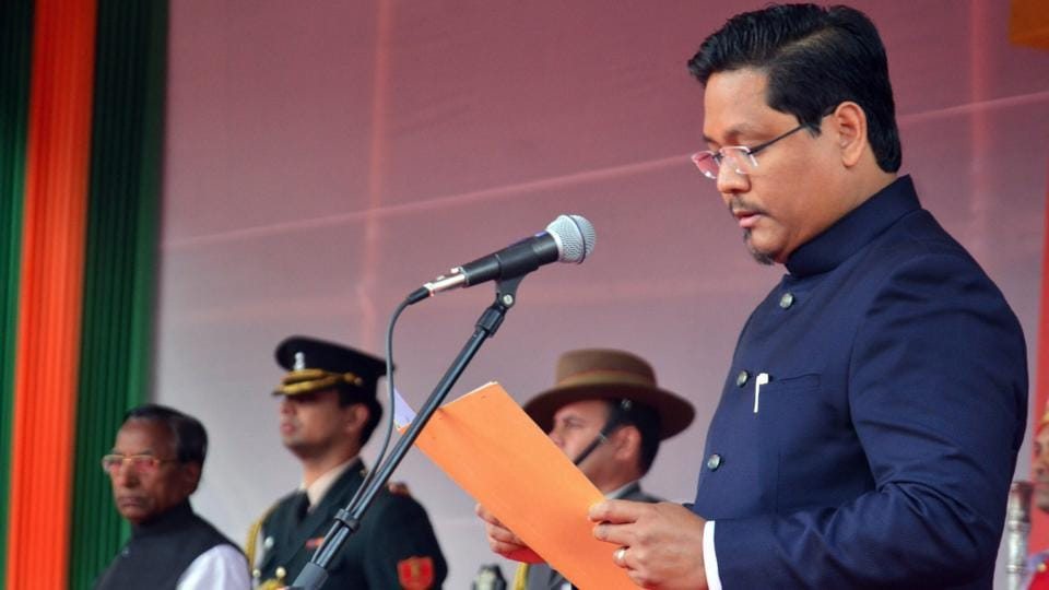 Meghalaya chief minister  Conrad K Sangma 's MDAgovernment has a comfortable majority in the assembly.