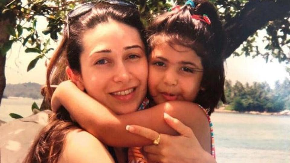 Karisma Kapur and Samaira in an old picture.