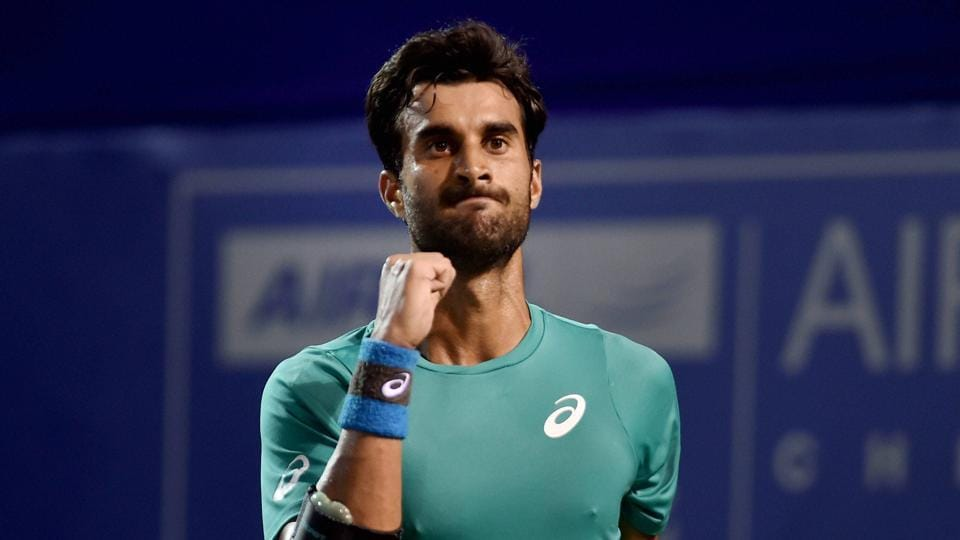 Yuki Bhambri showed no nerves in his first meeting with Lucas Pouille, who was part of France's 2017 Davis Cup winning team, in Indian Wells.