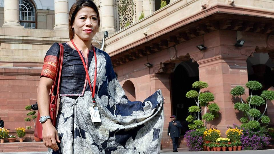 Rajya Sabha MP and boxer MC Mary Kom during the budget session at the Parliament complex in New Delhi. PM Narendra Modi will inaugurate Mary Kom's boxing academy this week.