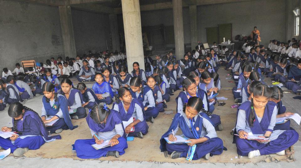 Class-10 PSEB exams begin: No space in school, junior