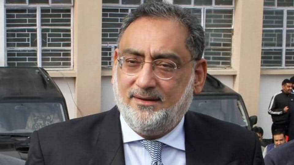 Haseeb Drabu arrives to present Budget 2018-2019 in J&K Legislative Assembly during the budget session, in Jammu .