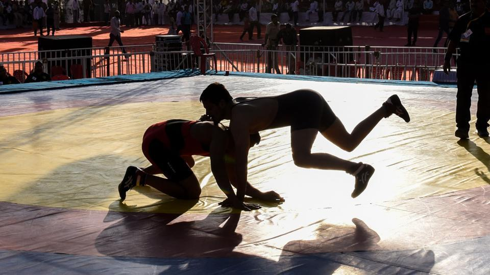Pune,wrestling,grapplers