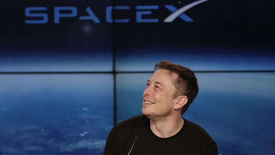 Elon Musk, founder, CEO, and lead designer of SpaceX, speaks at a news conference after the Falcon 9 SpaceX heavy rocket launched successfully from the Kennedy Space Center in Cape Canaveral on February 6.