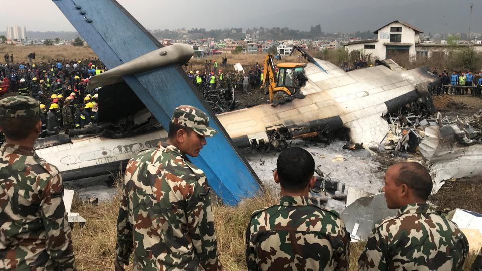 The twin-engine turboprop airliner was carrying 67 passengers and four crew members from the Bangladeshi capital, Dhaka, to Kathmandu, said airport spokesman Prem Nath Thakur. The passengers included 37 men, 27 women and two children. Thirty-three of the passengers were Nepalese nationals. (Navesh Chitrakar / REUTERS)