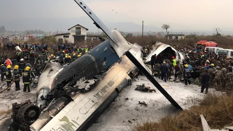 At least 50 people were killed when a Bangladeshi airliner with 71 people on board crashed while landing at the airport in the Nepalese capital Kathmandu on Monday. A police official said at least 10 people were still unaccounted for. (Navesh Chitrakar / REUTERS)