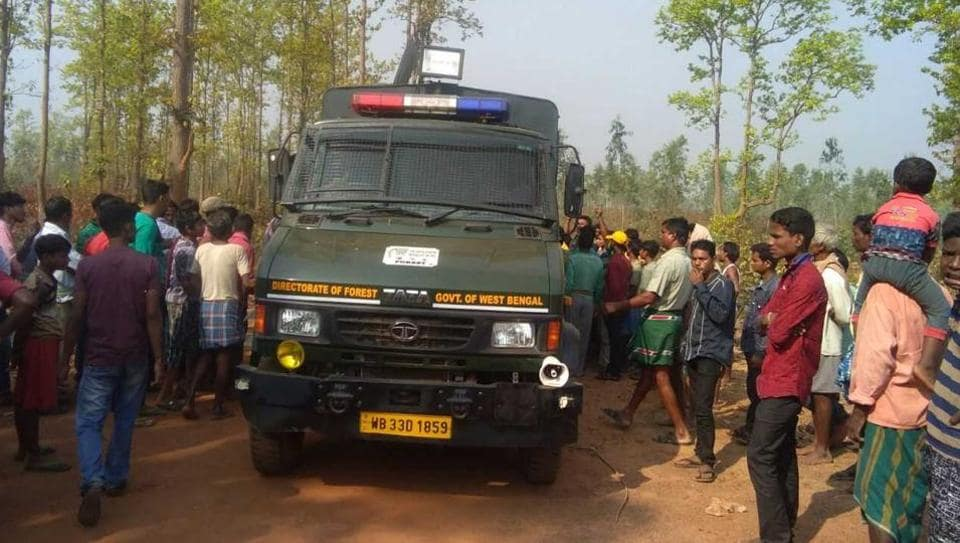 The special vehicle, named Airavata, in which the two guards were found.