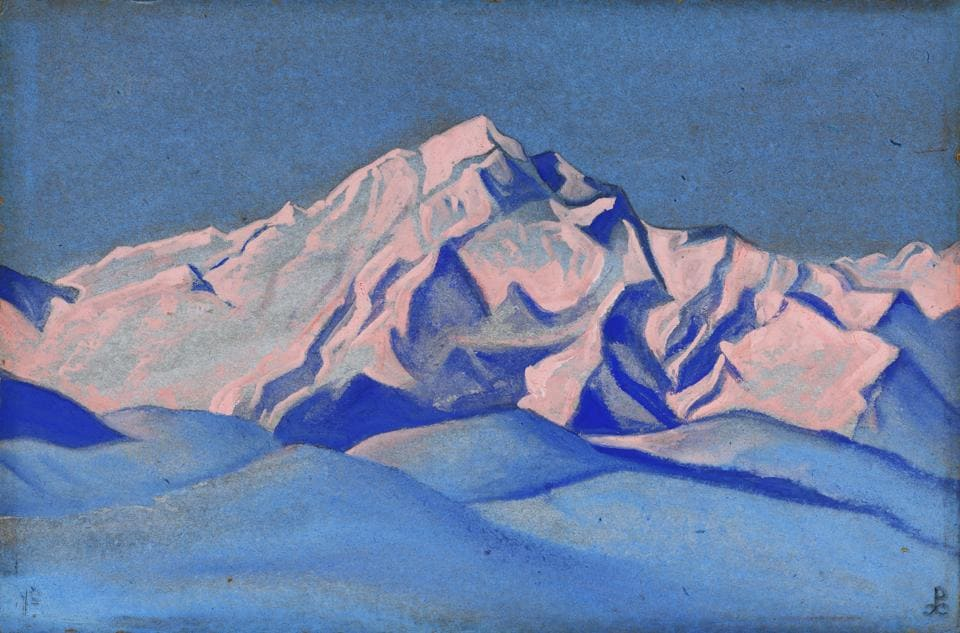 A painting by Russian artist  Nicholas Roerich