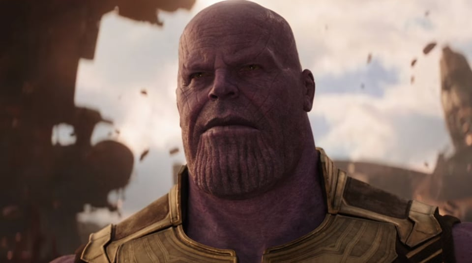 Josh Brolin as Thanos in a still from Avengers: Infinity War.