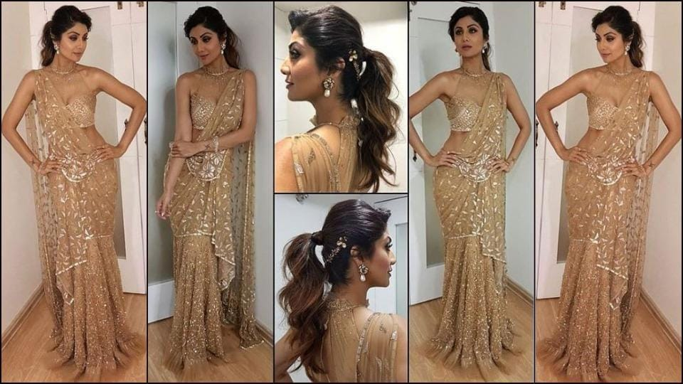 Shilpa Shetty's princess-like saree was nothing short of whimsical.