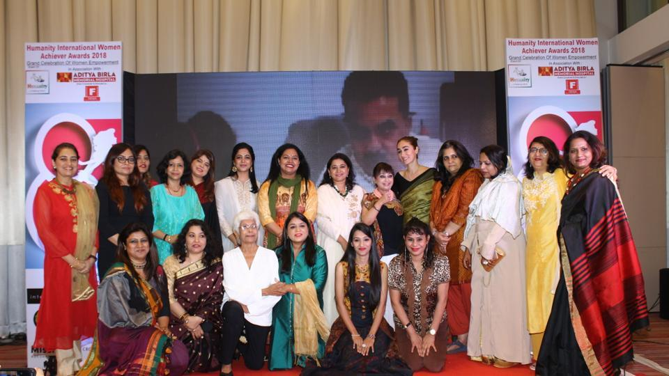 """Aditya Birla Memorial Hospital in association with NGO Humanity -  a helping hand foundation, organised """"Humanity International Women Achievers Awards 2018, in which 26 women achievers were honoured."""
