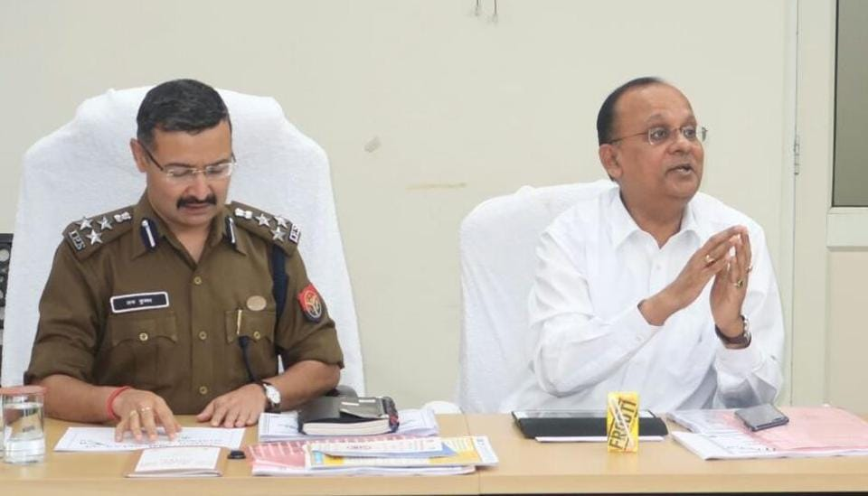 District magistrate BN Singh and senior superintendent of police Love Kumar held a meeting on Tuesday with senior police and administration officials to ensure law and order in the district