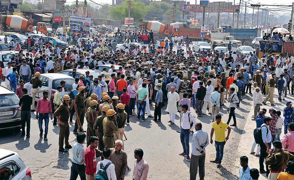 Locals blocked Sohna Road after the incident on Tuesday morning. They demanded that the accused be arrested and action taken against police officers who failed to provide security to Vashisht despite being informed of the threat to his life. The protest threw traffic out of gear.