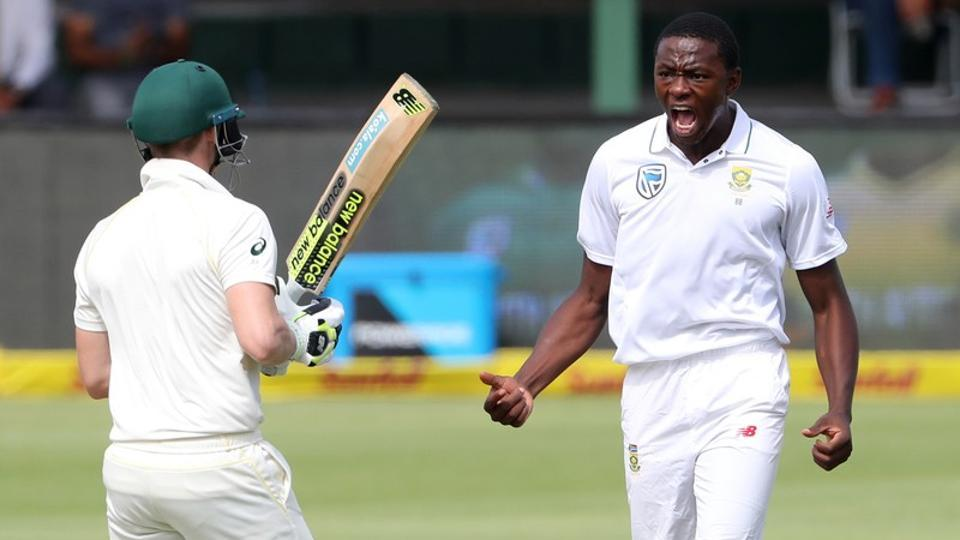South Africa pacer Kagiso Rabada in action against Australia during the ongoing Test series.